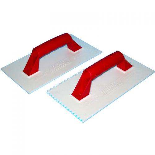 Llana plástica 280 mm x 150 mm dentada 30 unidades